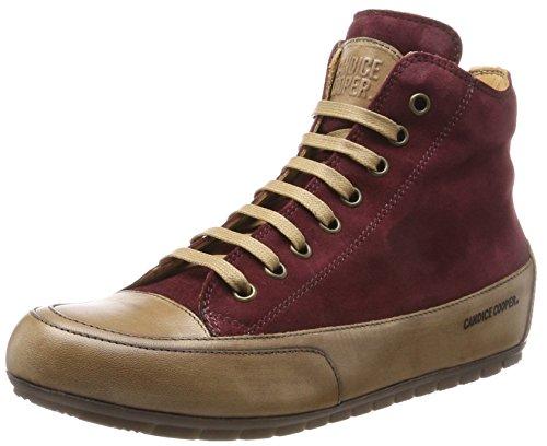 Sneaker Alta Candice Cooper Ladies Camoscio Rosso (bordeaux)