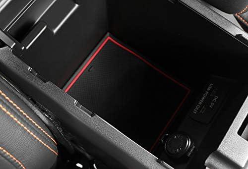 JessicaAlba Center Console Mats Cup Holder Liner Fit Subaru Crosstrek and Impreza 2018 2019 Accessories JE-SUMCD0000R