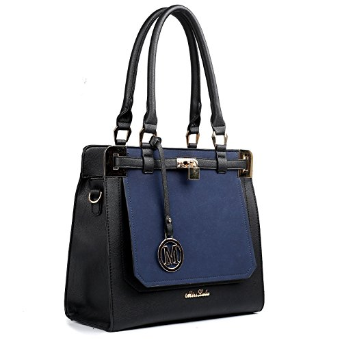 Women's Tote Bags Handbags Designer Leather Style Celebrity Shoulder Bags Blue