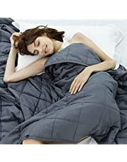 Weighted Idea Cooling Weighted Blanket Queen Size 15 lbs 60''x80'' for Adult with Premium Glass Beads