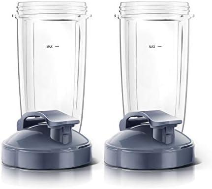NutriBullet Magic Juicer - Vasos para licuadora con tapa abatible ...