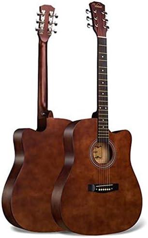 ギター 41インチのウッドギター初心者は初心者ギター練習フォークギター入門します 初心者 入門 (Color : Brown, Size : 41 inches)