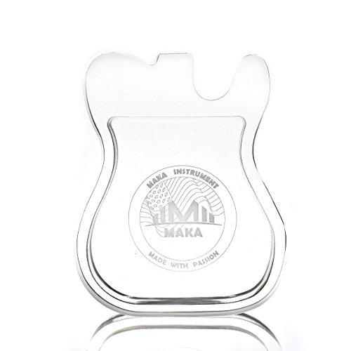 MAKA Acrylic Guitar Pick Holder Case, Premium Quality Clear Plexiglass, T Type Guitar Shaped, Great Gift Idea