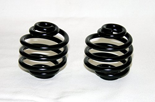 Mr Luckys Universal Fit Black Powder Coated 2 inch Solo Seat Springs for Harley, Bobber, Vintage, Retro, Custom. ()
