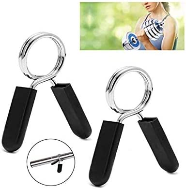 25mm uublik 2Pcs Spring Clip Collars Barbell Gym Weight Bar Dumbbell Lock for 1Inch Barbell Clamp