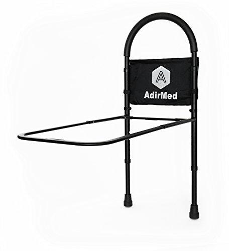 Adjustable height bed for elderly : Adirmed height adjustable bed rail assist handle