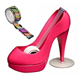 Scotch PINK Shoe Dispenser with Scotch Magic Tape and BONUS 1 roll of designer tape