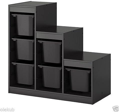 Ikea Trofast Boites De Rangement Combinaison Avec L Organisation De Jouets Noir Noir Amazon Fr Cuisine Maison