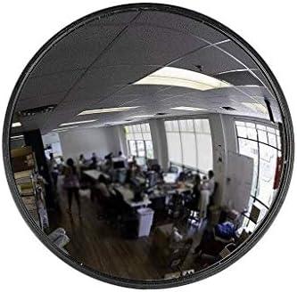 Geng カーブミラー オフィス凸ブラックラウンド広角レンズコンビニエンスストア商品の道盗難防止ミラー