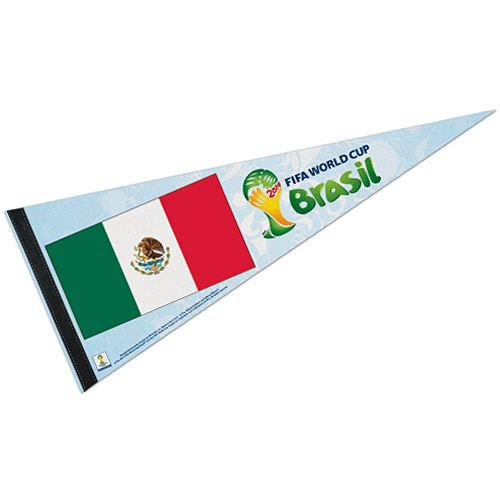 Mexico FIFA World Cup Brasil Pennant and Banner