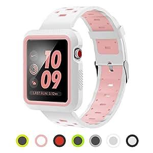 Amazon.com: Correa de silicona compatible con Apple Watch ...