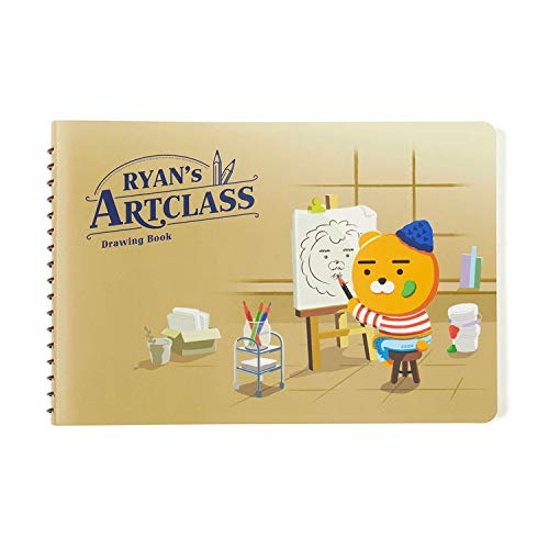 KAKAO FRIENDS Official- Ryan's Art Class Drawing Book 66 Sheet