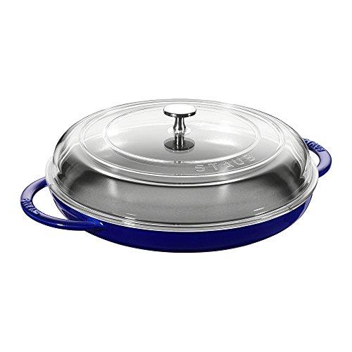 (Staub Cast Iron 12-inch Round Steam Griddle - Dark Blue)