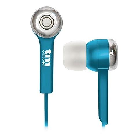 TM Electron TMHE252A - Auricular estéreo intrauriculares con Almohadillas de Silicona, Color Azul: Amazon.es: Electrónica