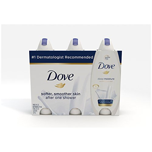 Dove  Body Wash Deep Moisture 24 oz, Pack of 3