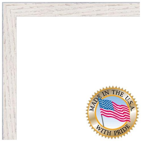 Cheap ArtToFrames 16×20 inch White Stain on Red Oak Wood Picture Frame, WOM0066-81784-YWHT-16×20