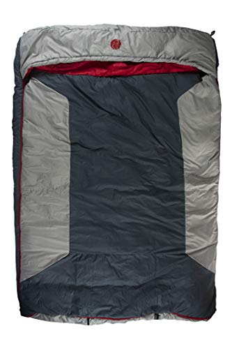 OmniCore Designs Multi Down Hooded Rectangular Cold Weather Sleeping Bag, Temp: (-10F to 30F) Sizes: (Reg, Tall & Double Wide) Accessories: 4pt. Compression Stuff Sack and 110L Mesh Storage Sack ()