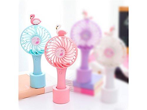 Wesource Creative Creative Animal USB Fan Mini Portable Handheld Fan Desktop Fan USB Charging Fan(Blue)