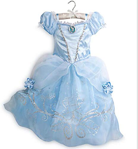 Princess Dresses Rapunzel Aurora Kids Party Halloween Costume Clothes,Beige,Line]()