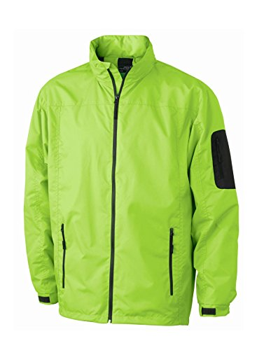 A Men's Windbreaker carbon Vento Uomo Casual Lime Giacca green ZvXdwxd