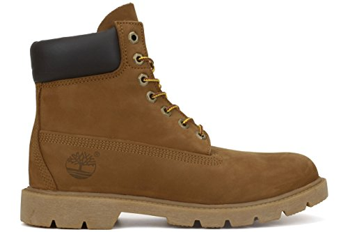Timberland Mens 6 Inch Basic Boot Padded Collar Rust Nubuck