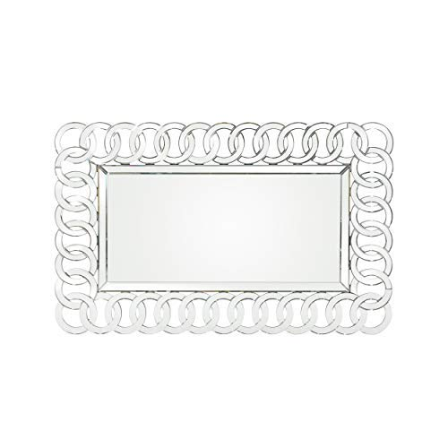 Christopher Knight Home 306430 Foster Modern Glam Chain-Link Mirror, Clear (Mirrors Ornamental)