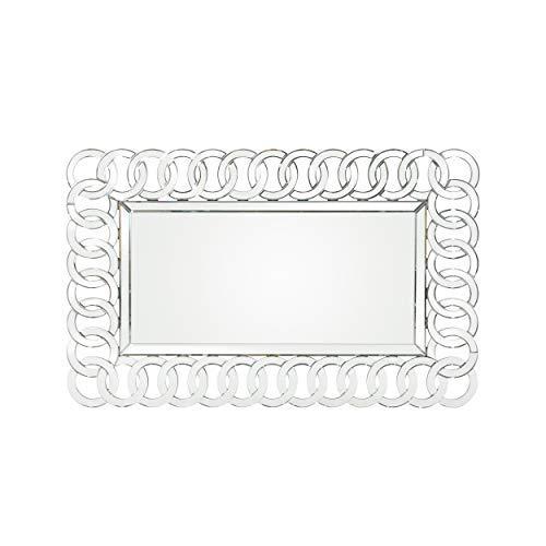 Foster Modern Glam Chain-Link Mirror ()
