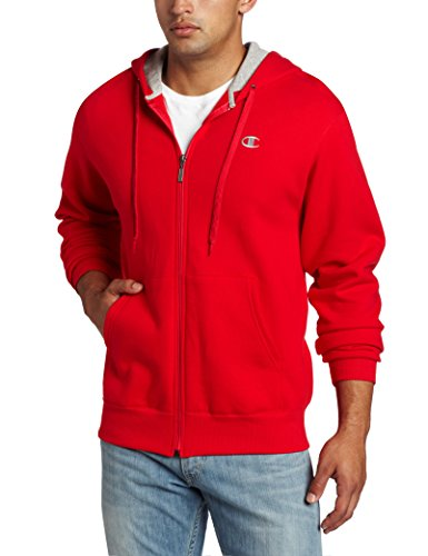 Champion Men's Full-zip Eco Fleece Jacket Hoodie, Crimson, Large ()