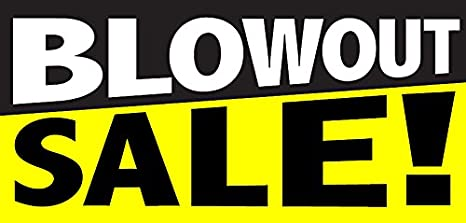 Amazon.com   wall26 Blowout Sale - Store Retail Business Sign Banner    Office Products a616ac9f7