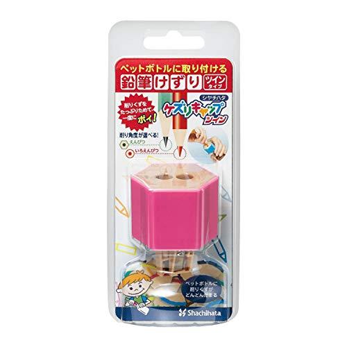 Midori Shachihata Twin Pencil Sharpener Kezuri Cap, Pink (ZKC-W2/H) ()