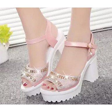 LvYuan-GGX LvYuan-GGX LvYuan-GGX Damen High Heels PU Frühling Weiß Blau Rosa 2,5-4,5 cm, Blushing Pink, us8 / eu39 / uk6 / cn39 - db1ecd