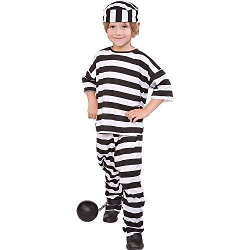 RG Costumes Convict Boy Child Small Size 4-6 (8 Pack) -