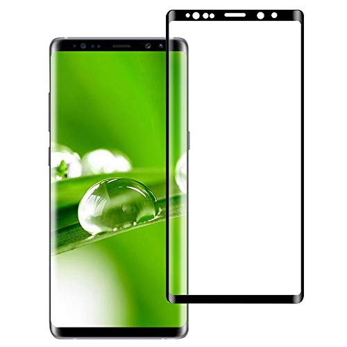 Galaxy Note 9 Screen Protector Tempered Glass Case Fridendly 3D Full Coverage High Definition Clear Anti-Fingerprint Anti-Bubble Film (Black)