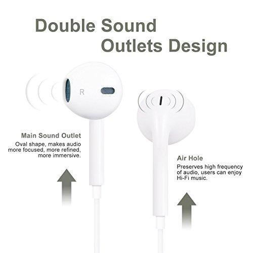 Lightning Earphones, Headphones with Microphone Lightning Earphone and Noise Isolating headset Made For iPhone8/8 plus iPhone7/7 plus and iPhone X Earbuds Earphones (Bluetooth Connectivity) by CulaLuva (Image #4)