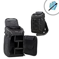Weatherproof Camera Backpack by USA Gear with Rain Cover , Accesory Storage and Customizable Dividers - Works With Sony , Pentax , Panasonic and Many Other DSLR , Mirrorless , Instant & Action Cameras