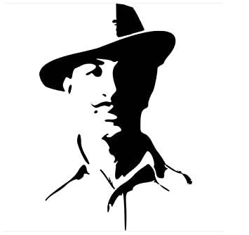 Leebo Bhagat Singh Car Bike Sticker Decal For Bikes And Car