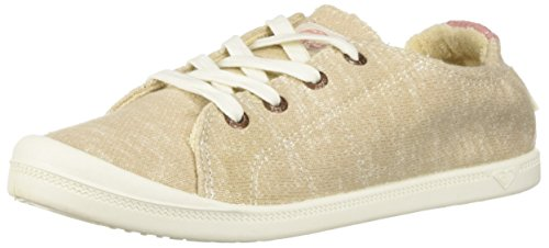 Roxy Women's Bayshore Slip on Shoe Sneaker, Tan 1, - Thong Beige Tan