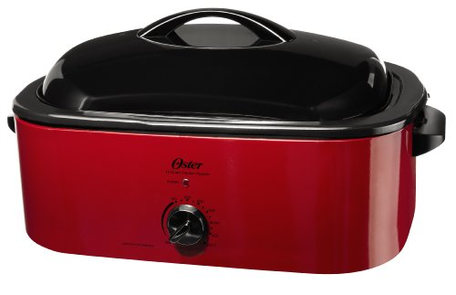 Stainless Steel Roaster Oven - Oster Smoker Roaster Oven, 16-Quart, Red Smoke (CKSTROSMK18)