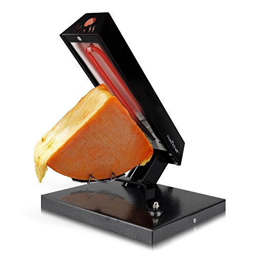 NutriChef Raclette Grill Cheese Melter / Warmer - Electric Cheese Melting Machine - Swiss Style Melt Maker - To Cover Potatoes, Vegetables or Pasta with Melted Cheese - PKCHMT24