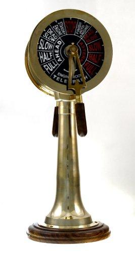RedSkyTrader Brass Chadburn Nautical Telegraph Machine: Ship Engine Telegraphs