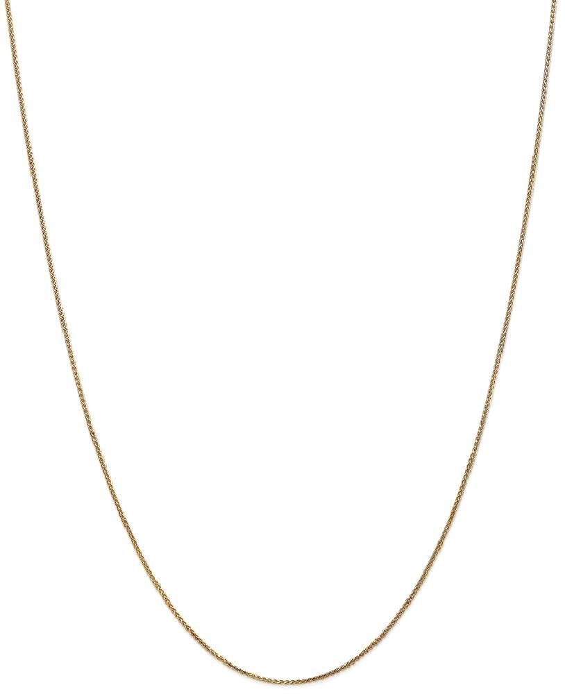 ICE CARATS 14k Yellow Gold 1mm Solid Spiga Chain Necklace 24 Inch Wheat Fine Jewelry Gift Set For Women Heart