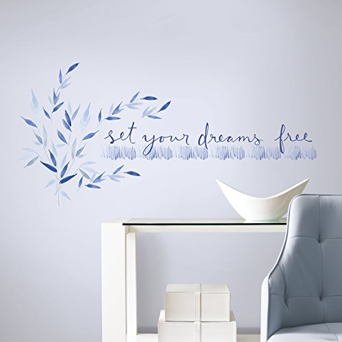 - RoomMates Kathy Davis Set Your Dreams Free Quote Peel and Stick Wall Decals