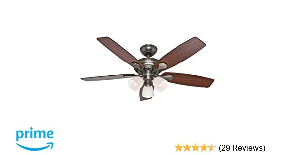 Hunter fan company 53052 conway 52 inch antique pewter ceiling fan hunter fan company 53052 conway 52 inch antique pewter ceiling fan with five cherried walnutburnt walnut blades and a light kit amazon mozeypictures Image collections
