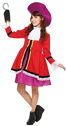 Ladies Captain Hook Costume (Disney's Captain Hook Costume from Peter Pan- Teen/Women's STD)