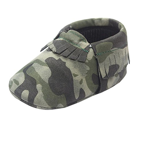 Amiley Baby Camouflage Tassel Prewalker Non Slip Soft Sole Sneaker Casual Shoes (Size 12 (US:3---6~12 Month))