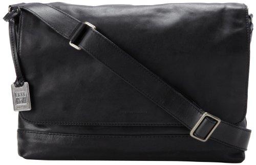 FRYE Men's James Tumbled Full Grain Messenger Bag, Black, One Size by FRYE