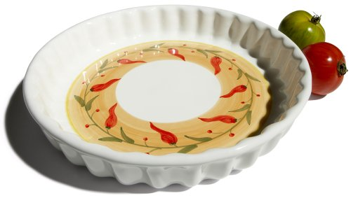 Caleca Chili Peppers Quiche Baking Dish