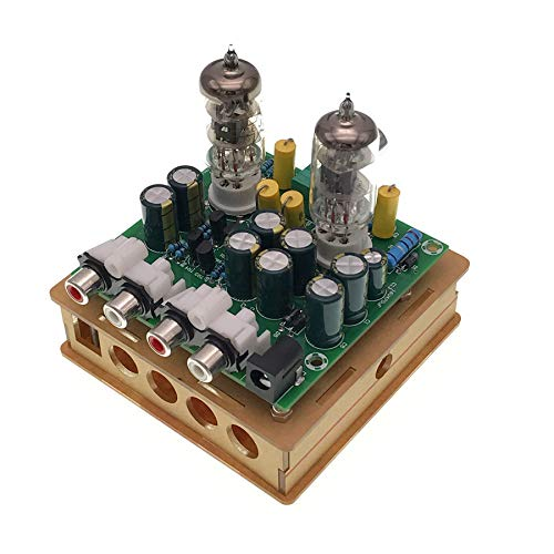 (TOOGOO Newest 6J1 Tube preamp Amplifier Board Pre-amp Headphone amp 6J1 Valve preamp Bile Buffer DIY Kits(6J1 Tube preamp Amplifier Board+Transparent Shell Parts))