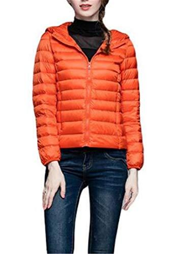 Cappotto Piumino amp; Tuta Sportiva H Le Lightweigth Cappuccio Con Più E La Arancione Inverno Del Donne zqSxFd6