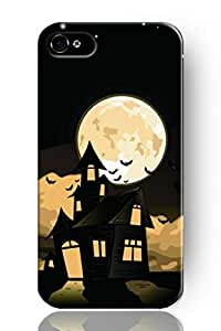 Chuntihavi NEW Classic Vintage Charm Design Personalized Hard Plastic Snap on Slim Fit Bright Full Moon Halloween Theme Iphone 5 5s Case by ruishername